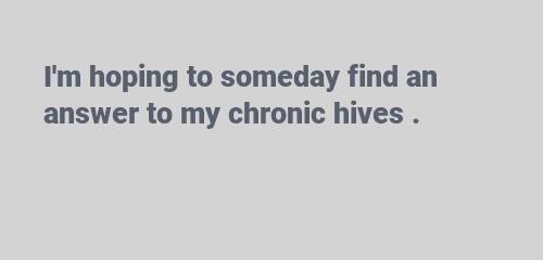 chronic hives1