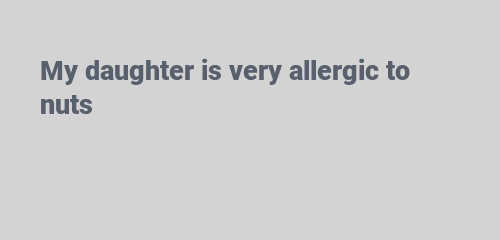 allergic to nuts