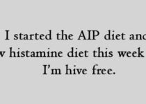 I started the AIP diet and low histamine diet this week and I am hive free.