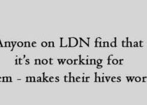 Anyone on LDN find that it's not working for them - makes their hives worse