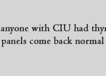 Has anyone with CIU had thyroid panels come back normal